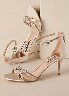 3059647f766b Strappy Crystal Heel in Gold Wedding Shoes
