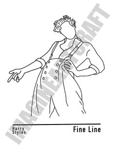 Outline Art, Outline Drawings, Art Drawings Sketches, Harry Styles Dibujo, Harry Styles Drawing, Hand Embroidery Patterns, Embroidery Art, One Direction Drawings, Diy Canvas Art