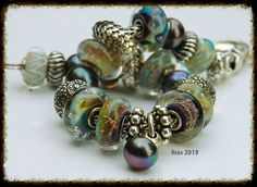 Azures and new fall glitters with LE peacock pearls Gorgeous!!!!!  By Deborah Taylor