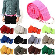 New D O-Ring Canvas Belts Multiple Colors Adjustable Golf Fashion Web Belt Mens #hellobincom