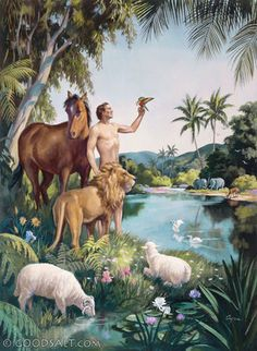 Genesis 2: adam--Jehovah Created Adam and placed him in the garden. ew10213