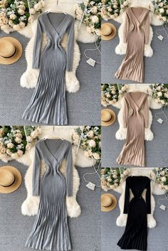 This pleated bodycon party dress makes you more attractive and perfect for the winter party. ✔ Worldwide Free Shipping #Fashion #VNeck #LongSleeves #Pleated #Bodycon #PartyDress #womensday #friends #giveaway #tbt #Vintage #Goodvibes #Winterwear #Solid #Cocktail #fashion #fashionista #fashiondesigner #fashionable #Trending #Trends #Likee #Share Boho Summer Dresses, Summer Dresses For Women, Boho Dress, Halter Maxi Dresses, Chiffon Maxi Dress, Bodycon Dress Parties, Party Dresses, Party Fashion, Party Wear