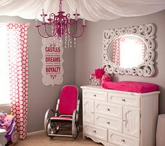 Perfect to transition into a toddler/girls/tween room. Colors are bright but not overkill for a gorg baby nursery. Awesome idea