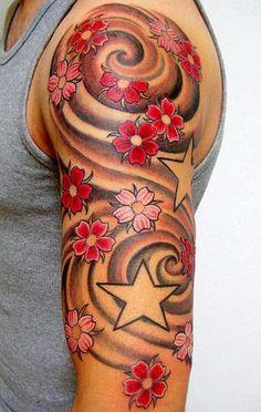 40 Tatuajes de flores de cerezo para chicas | Belagoria | la web de los tatuajes