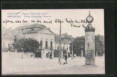 AK Pressburg, Frigyes föherczegi Palota, Palais Erzherzog Friedrich, Litfaßsäul