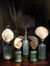 Antique bottles become Shell and Sea Life Sculptures...LOVE! Greyfreth - Gifts From the Sea