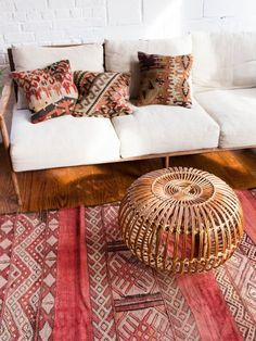 STYLECASTER | Moroccan Rugs | Pink and Red Moroccan Rug