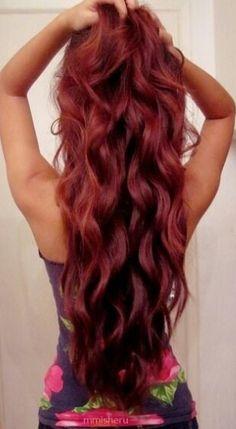 Loose wavy mermaid curls...