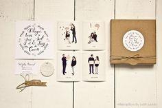 INVITACIONES DE BODA BY MILLEPAPILLONS: Invitación con caja y polaroids