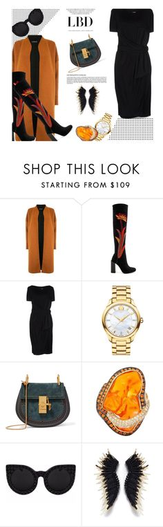"""""""Little Black Dress..."""" by unamiradaatuarmario ❤ liked on Polyvore featuring Warehouse, Jeffrey Campbell, Moschino, Movado, Chloé, Delalle and LBD"""