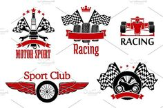 Motorsports and racing icons. Sport Icons. $7.00