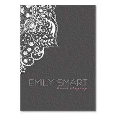 Elegant Gray Damasks White Vintage Lace Business Card Template. Make your own business card with this great design. All you need is to add your info to this template. Click the image to try it out!
