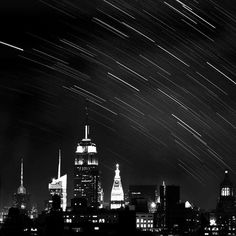 30% OFF, New York City Photography - black and white - star trails -... ($21) ❤ liked on Polyvore