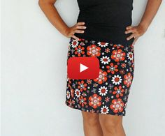 Sewing Tutorials Grab your favorite knit fabric and make this 30 minute basic skirt in no time. Deby from So Sew Easy shows you how in this video tutorial. Dress Sewing Tutorials, Skirt Patterns Sewing, Diy Sewing Projects, Sewing Basics, Sewing For Beginners, Clothing Patterns, Basic Sewing, Sewing Hacks, Sewing Clothes