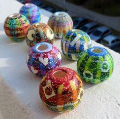 Big faux, hollow... new beads by Saffron Addict, via Flickr