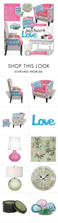 """""""LovDock Patchwork"""" by beebeely-look ❤ liked on Polyvore featuring interior, interiors, interior design, home, home decor, interior decorating, Robert Abbey, York Wallcoverings, Pacific Coast and Archipelago Botanicals"""