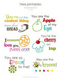 8 Free Lunchbox Printable Cards Just in Time for Back-to-School: Simply Bloom