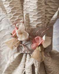 Decorative flowers for curtains and draperies. Curtains And Draperies, Drapery, Flower Decorations, Gift Wrapping, Gifts, Home Decor, Ideas, Home, Gift Wrapping Paper
