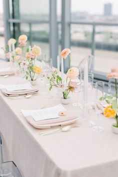 Seeing this citrus wedding inspo on a Columbus rooftop made our hearts pitter patter in the way only a modern romantic mood can. Freeform floral pillars, lucite chairs, ikebana arrangements, a bas relief cake - the only thing more breathtaking than these delicate details is the Galia Lahav gown with intricate embroidery from off-the-shoulder sleeves to sweeping train. Need we say more? Forest Wedding Reception, Rooftop Wedding, Luxe Wedding, Magical Wedding, Wedding Reception Decorations, Wedding Tables, Wedding Ideas, Unique Wedding Cakes, Whimsical Wedding