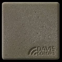 "This is a photo of an actual 3"" x 3"" concrete tile sample integrally colored with Davis Colors' Yosemite Brown (pigment # 641) with a sandblast finish.  This video reproduction is just for ideas. Please finalize your color selection from our printed color card, hard tile samples or job site test."