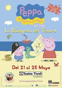 """Espectacle infantil """"Peppa Pig: la búsqueda del tesoro"""", al Teatre Tívoli BCN (del 21 al 25/05/2014)"""