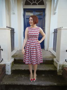 Hannibal dress - Christine Haynes Emery dress made with Echino stag fabric from The Village Haberdashery
