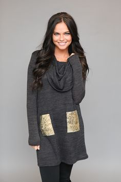 Magnolia Boutique Indianapolis - Starry Eyed Sequin Pocket Dress - Charcoal, $32.00 (http://www.indiefashionboutique.com/starry-eyed-sequin-pocket-dress-charcoal/)