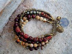 Bohemian Bracelet / Gypsy Bracelet / Boho / Multi by Gypsy Bracelet, Bohemian Bracelets, Fashion Bracelets, Jewelry Bracelets, Yoga Bracelet, Horse Jewelry, Bohemian Jewelry, Beaded Jewelry, Shell Jewelry