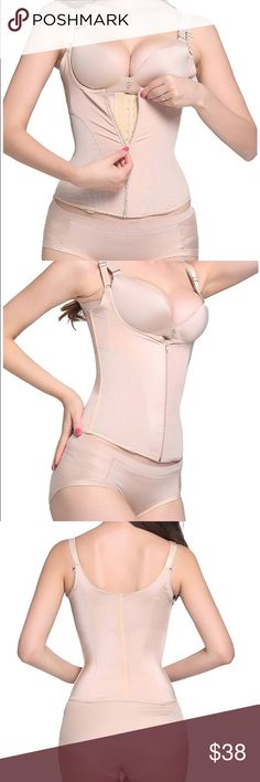 Women's Waist Trainer Vest Steel Boned Body Corset 2 row hook and zipper closures to keep tight fit as you lose inches,2 layers of fabric for firm waist control,flatten the stomach and slim your tummy High quality fabric breathable and comfortable enough to be worn all day long,alleviate back pain and correct posture in this waist cincher Other