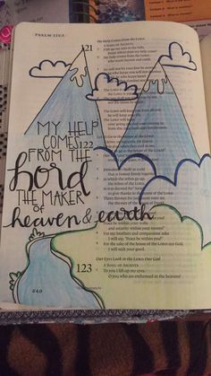 Some of my work. Psalm 121:1 #biblejournaling