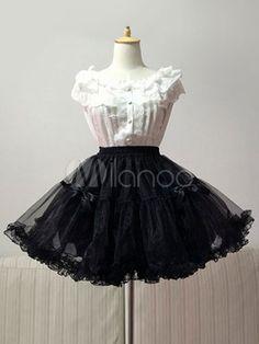 3cbbaafe3e8d Lolita Petticoat Black Solid Color Petticoat
