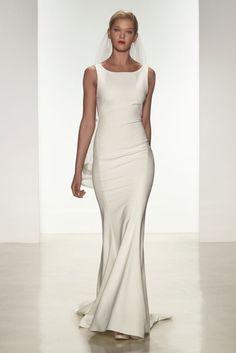 """Heather"" Amsale Spring 2015 | Sleek Wedding Dress"