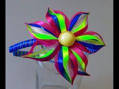 Novo modelo de flor de fitilhos colorido Passo a Passo - YouTube