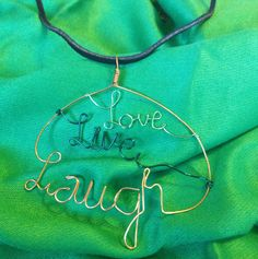 Live Laugh Love by jewelrywithatwist on Etsy, $15.00