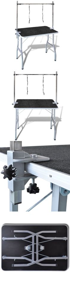 Grooming Tables 146241: Folding Dog Grooming Bath Table Pet Stainless Steel With 2 Adjustable Arm Clamp BUY IT NOW ONLY: $105.59