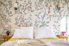 bedroom / wallpaper in this paris apartment