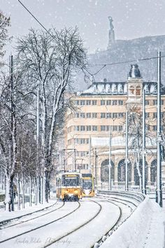 and CAF Urbos Places In Europe, Places To Visit, Beautiful Buildings, Beautiful Places, Budapest Winter, Capital Of Hungary, Magic City, Top Travel Destinations, Eastern Europe
