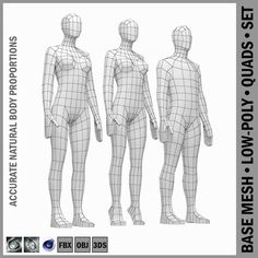 Buy Female Base Mesh Natural Proportions in Rest Pose by vk_studio on High-quality accurate models of human female body with natural proportions in low-poly base mesh. Character Model Sheet, Character Modeling, 3d Character, Character Design, Figure Reference, Photo Reference, Female Base, Linear Art, 3d Human