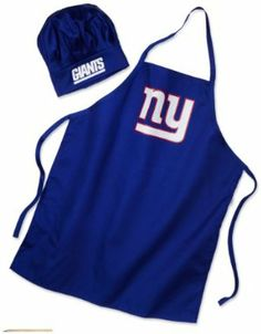 NFL New York Giants Chef Hat and Apron Set by PSG. $19.99. It is made out of cotton twill fabric. It consists of a Chef Hat and Apron Set. Features a full color logo on the front of the apron and on the hat band. NFL New York Giants Chef Hat and Apron Set