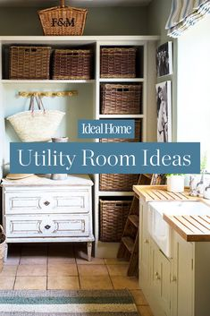 Utility room ideas, designs and inspiration Utility Room Storage, Utility Room Designs, Conservatory Ideas, Mudroom, Storage Solutions, Space Saving, Laundry Room, Ideal Home, Room Ideas