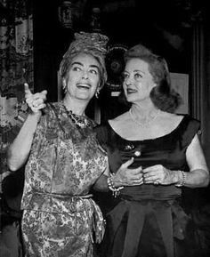 A rare moment (not trying to scratch each other's eyes out) with Joan Crawford & Bette Davis.
