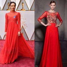 Robe rouge longue pour gala avec manche longue