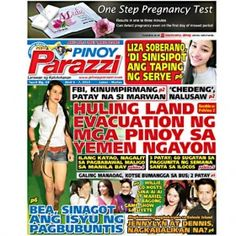 Pinoy Parazzi Vol 8 Issue 44 April 06 – 07, 2015 http://www.pinoyparazzi.com/pinoy-parazzi-vol-8-issue-44-april-06-07-2015/
