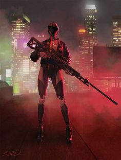 Tony Skeor is illustrator from Ukraine, his artwork is stylistically related to retrowave and neon-noir. Here are some of his beautiful illustrations that. Arte Cyberpunk, Cyberpunk City, Cyberpunk 2077, Cyberpunk Aesthetic, Pen & Paper, Neon Noir, Dystopian Future, Sci Fi Armor, Character Design