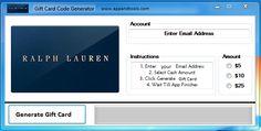 Ralph Lauren Gift Card Generator