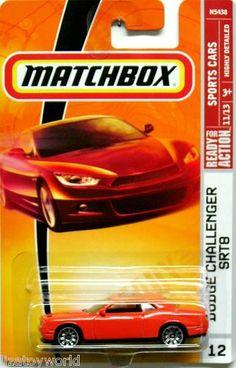 2008 Dodge Challenger SRT8 Matchbox 2008 Ready For Action #12 Sports Cars #11/16