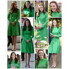 Kate recycled a Catherine Walker coat today which she wore it for the first time in 2014 , in Canberra during Aus/NZ tour .