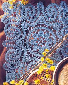 Blue Bruges Crochet mat