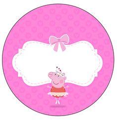 Rótulo Latinhas, Toppers e Latinhas Peppa Pig Bailarina: