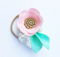 Fieltro flor diadema venda del bebé flor diadema bebé